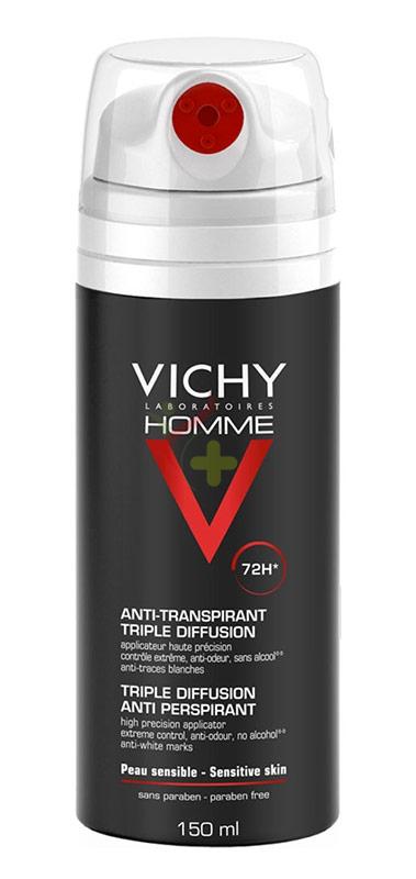Vichy Linea Homme Deo Deodorante Anti-Traspirante Tripla Diffusione 72h 150 ml