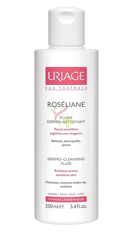 Uriage Linea Lenitiva Roseliane Fluido Dermo Detergente Pelli Arrossate 250 ml